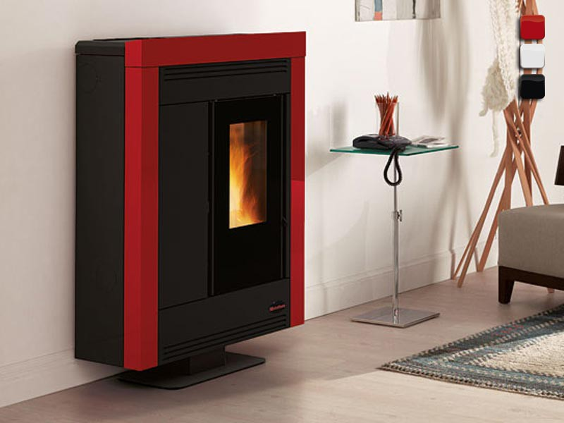 pelletofen 10 2 kw extraflame souvenir steel. Black Bedroom Furniture Sets. Home Design Ideas