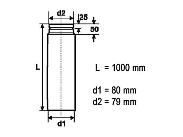 Rauchrohr für Pelletöfen - 1000 mm – Bild 3