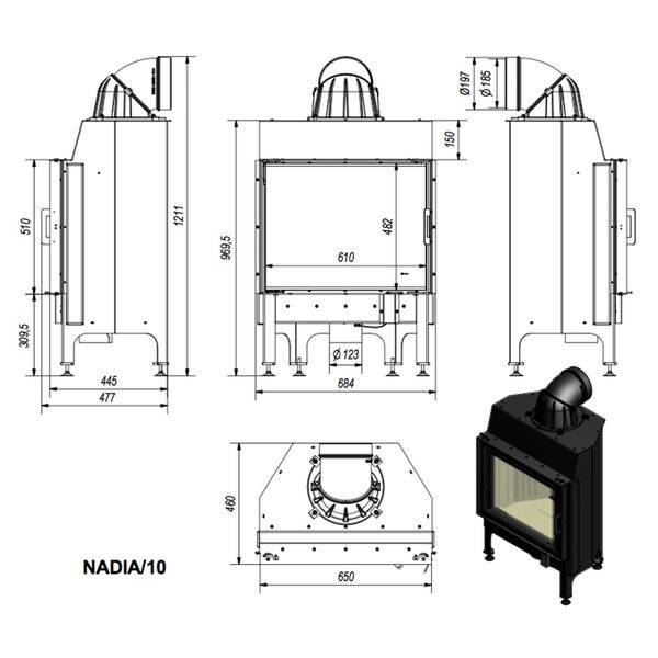 Kamineinsatz 10 kW Kratki Nadia 10 – Bild 6