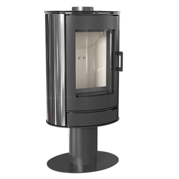 Kaminofen 8 kW Kratki Koza AB/S/N/KAFEL Keramik schwarz – Bild 1
