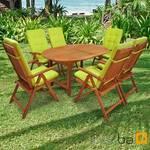 Gartenmöbel Set 13-teilig Sun Shine mit Auflagen Relax Grün 001