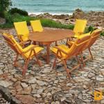 Gartenmöbel Set 13-teilig Sun Flair mit Auflagen Premium Gelb 001
