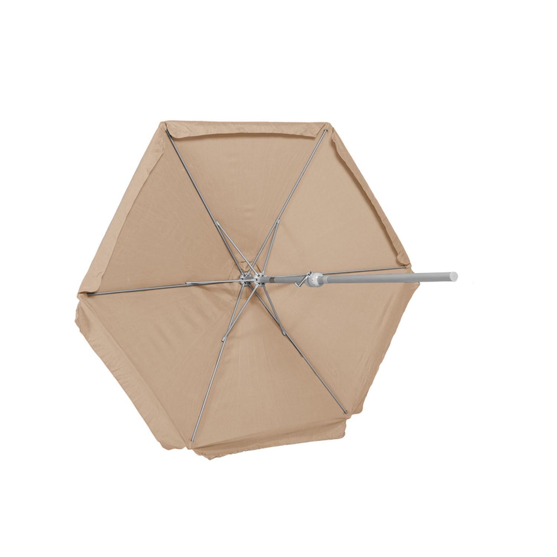 Schirm, Ø 180 cm, 38 mm Rohr, beige