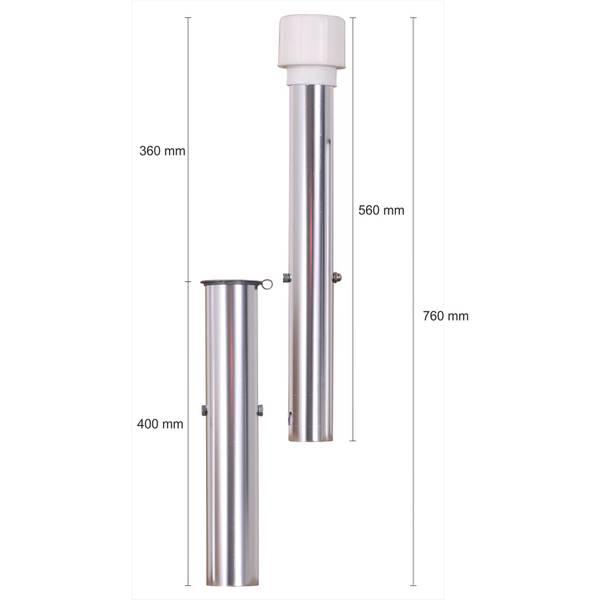Bodenhülse für 50 mm Rohr extra lang    – Bild 7