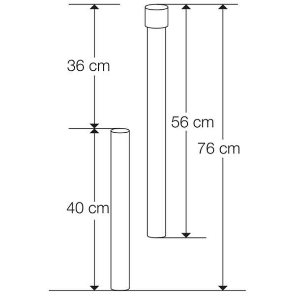 Bodenhülse für 50 mm Rohr extra lang    – Bild 8
