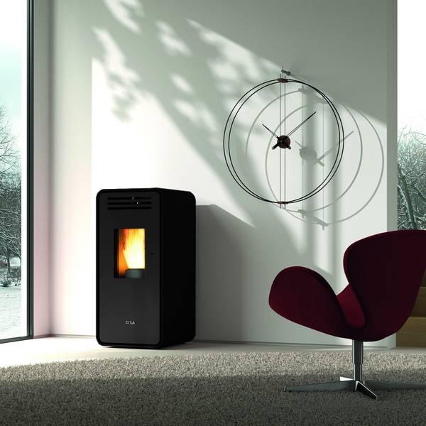 Pelletofen 7,0 kW Blaze Ambra - Nero – Bild 2