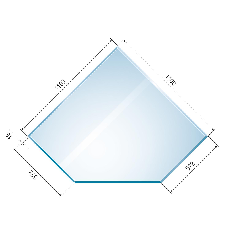 glasbodenplatte 6 mm diamant inkl facette. Black Bedroom Furniture Sets. Home Design Ideas