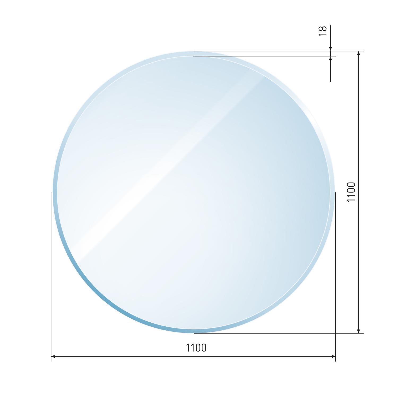 glasbodenplatte 6 mm kreis inkl facette. Black Bedroom Furniture Sets. Home Design Ideas