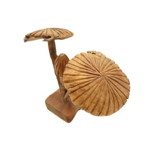 Deko-Figur Pilze 3 Stück auf Holzfuß
