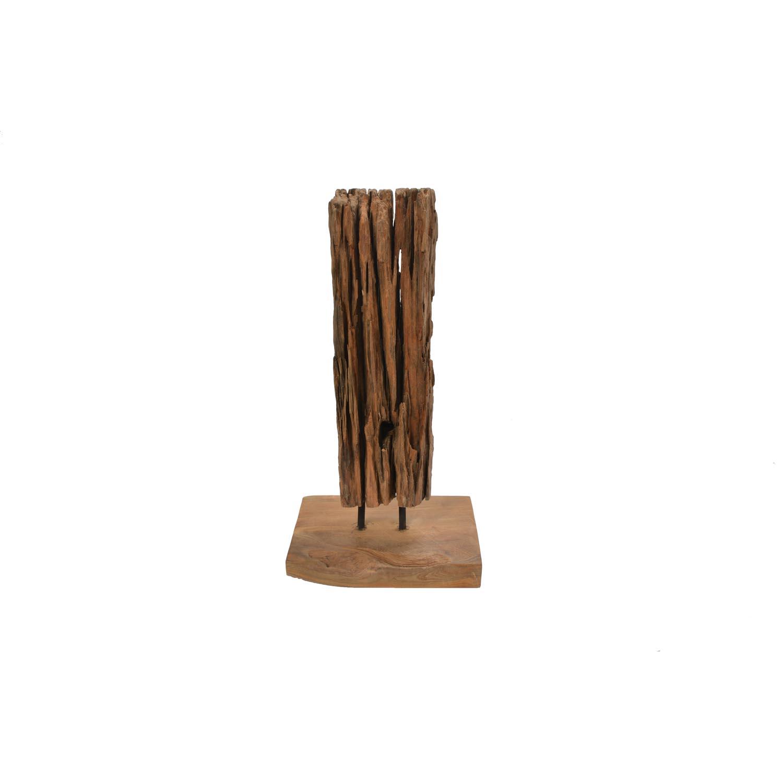 Deko Figur Treibholz Auf Holzfuß