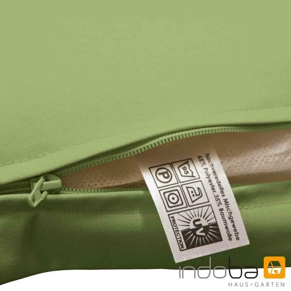2x Sitzauflage Niederlehner Polsterauflage Stuhlauflage Auflage extra dick Grün