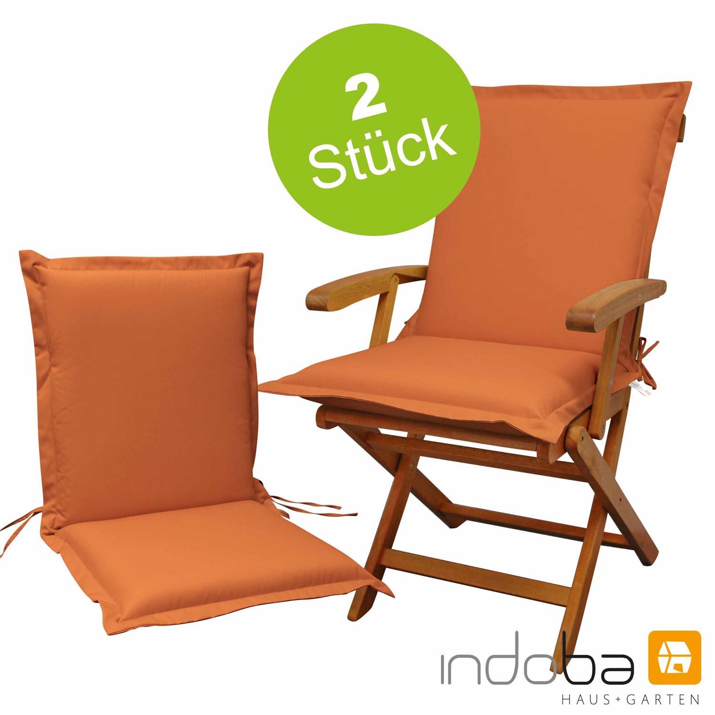 2 x indoba - Sitzauflage Niederlehner Serie Premium - extra dick - Terra
