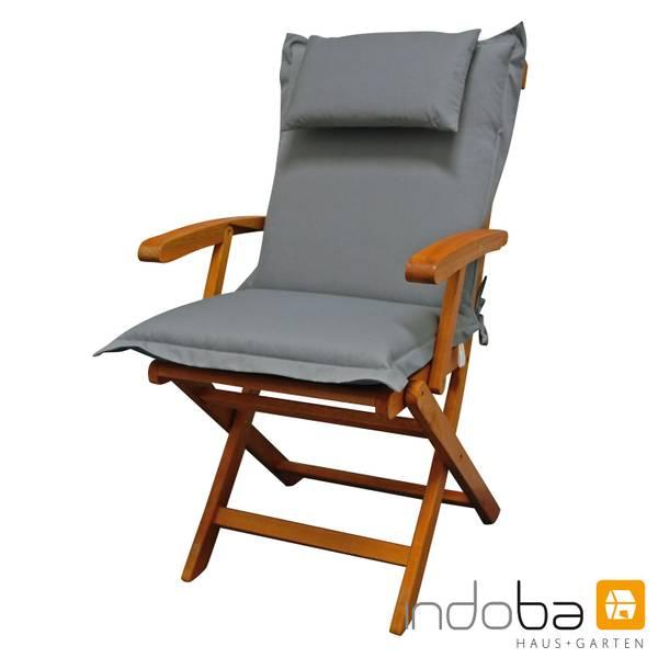 2x indoba - Kopfkissen Serie Premium - extra dick - Grau – Bild 2