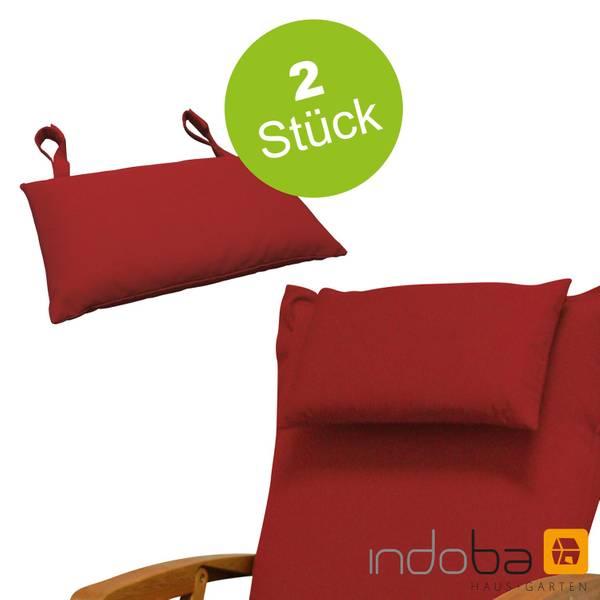 2x indoba - Kopfkissen Serie Premium - extra dick - Rot