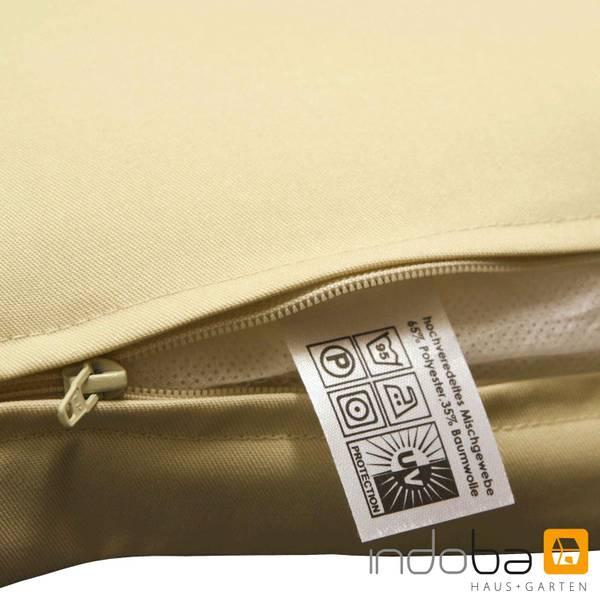 2x indoba - Kopfkissen Serie Premium - extra dick - Beige – Bild 7