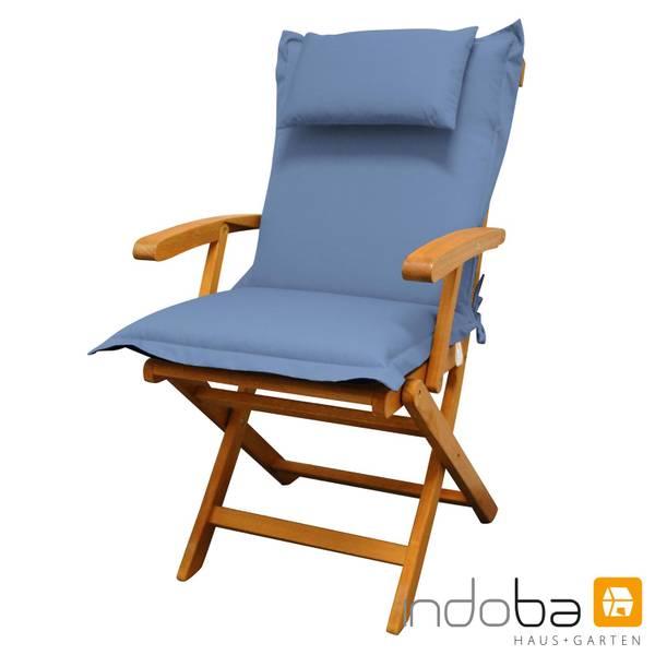 2x indoba - Kopfkissen Serie Premium - extra dick - Blau – Bild 2
