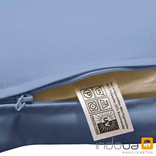 2x indoba - Kopfkissen Serie Premium - extra dick - Blau – Bild 7
