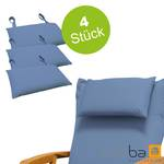 4x indoba - Kopfkissen Serie Premium - extra dick - Blau