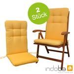 2 x indoba - Sitzauflage Hochlehner - Serie Relax - Gelb 001