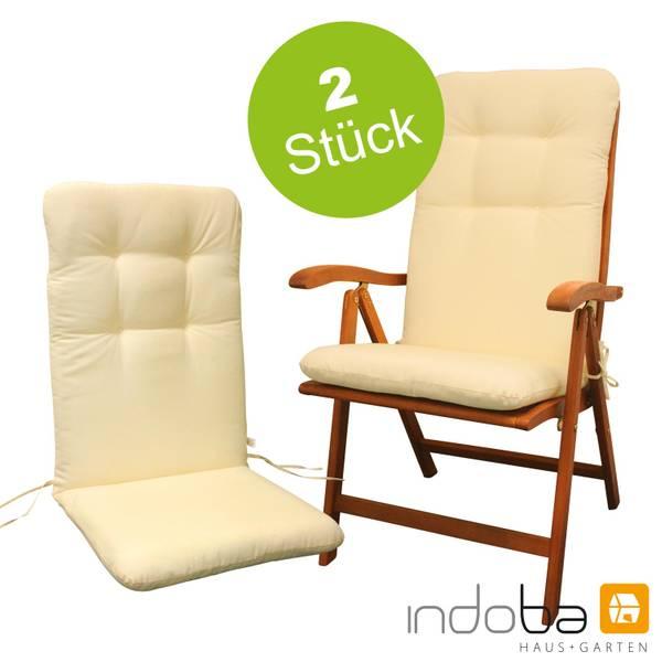 2 x indoba - Sitzauflage Hochlehner - Serie Relax - Beige