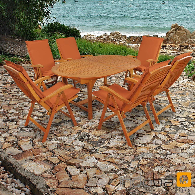 Gartenmöbel Set 13-teilig Sun Flair mit Auflagen Premium Terra