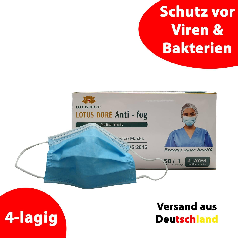 Mundschutz / Gesichtsmaske - 4-lagig