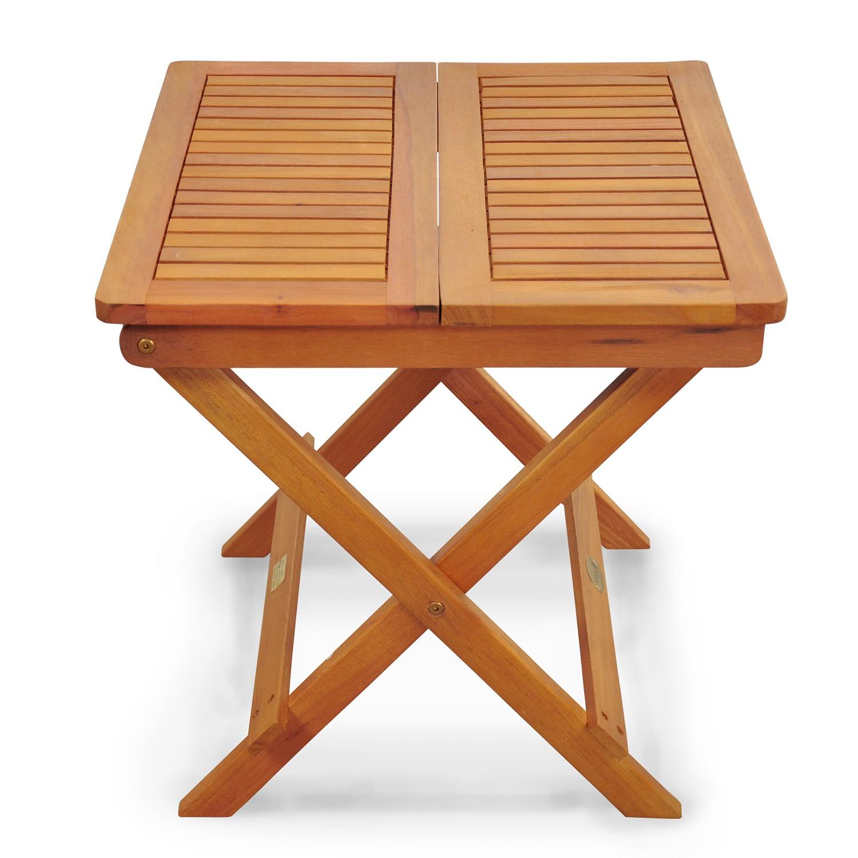 Gartentisch Beistelltisch Balkonmöbel Gartenmöbel Campingtisch 90x60cm Mokka