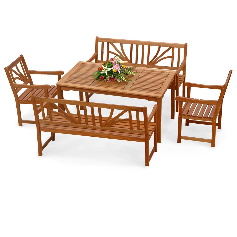 gartenm bel set gartengarnitur 5 teile 4 st hle mit. Black Bedroom Furniture Sets. Home Design Ideas