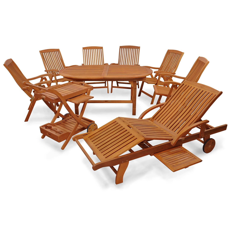 gartenm bel set sitzgruppe garnitur 8 teilig 6. Black Bedroom Furniture Sets. Home Design Ideas