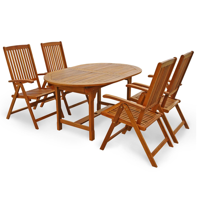 gartenm bel set sitzgruppe hochlehner verstellbar balkon. Black Bedroom Furniture Sets. Home Design Ideas
