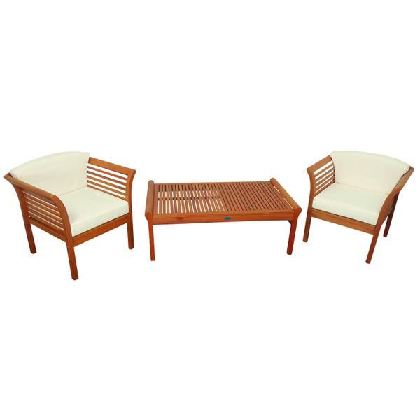 Gartenmöbel Set 3-teilig Samoa - Serie Samoa - GTX-73022-SASE3