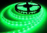 LED STRIP STRIPE STREIFEN LEISTE 300LED 5mt grün 12Volt leuchtstark (ohne Netzteil) - Bild 1