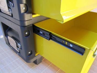Metall Werkzeugtrolley XXL Type B305ABCD -> jetzt neu mit Schubladenverriegelung und Schloss – Bild 5