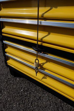 Metall Werkzeugtrolley XXL Type 305BBBB -> jetzt neu mit Schubladenverriegelung und Schloss – Bild 9