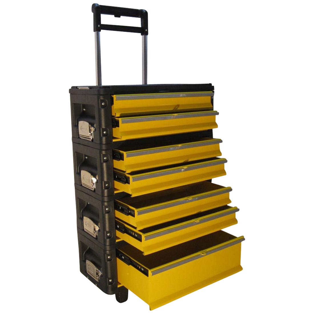 Metall Werkzeugtrolley XXL Type B305ABCD -> jetzt neu mit Schubladenverriegelung und Schloss