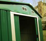 Gartenhaus Geräteschuppen 8m² 3,12x2,57m 3x2,5m aus verzinktem Stahlblech Metall grün - Bild 3