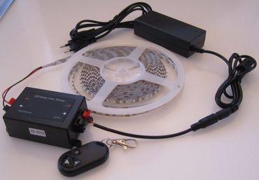 SET 2760 Lumen 5m Led Streifen 600 LED neutralweiß mit Dimmer mit Fernbedienung inkl. Netzteil 24V (Pro-Serie) TÜV/GS geprüft – Bild 2