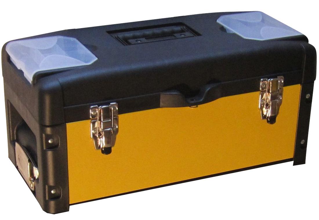 Metall Werkzeugtrolley XXL Type: B4-B BLACK EDITION schwarz mit Schubladenverriegelung und Schloss