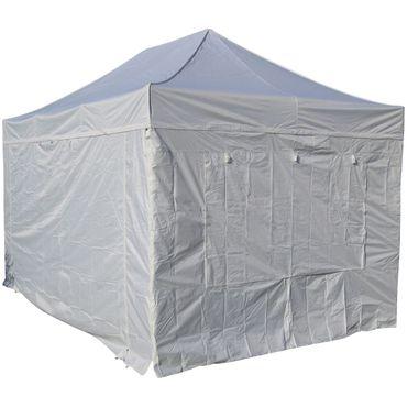 3x4,5m ALU Profi Faltzelt Marktzelt Marktstand Tent 50mm HEX mit Metallgelenken und FEUERHEMMENDEN PLANEN