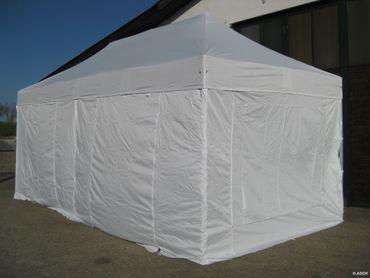 6x3m ALU Profi Faltzelt Marktzelt Marktstand Tent 40mm QUAD mit Metallgelenken und FEUERHEMMENDEN PLANEN – Bild 2