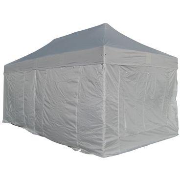 6x3m ALU Profi Faltzelt Marktzelt Marktstand Tent 40mm QUAD mit Metallgelenken und FEUERHEMMENDEN PLANEN – Bild 1