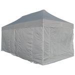 6x3m ALU Profi Faltzelt Marktzelt Marktstand Tent 40mm QUAD mit Metallgelenken und FEUERHEMMENDEN PLANEN - Bild 1