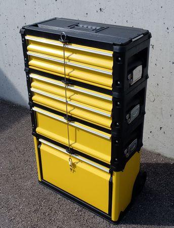 Metall Werkzeugtrolley XXL Type 305BBCD -> jetzt neu mit Schubladenverriegelung und Schloss – Bild 2