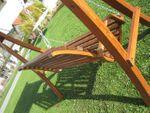 """Design Hollywoodschaukel  """"KUREDO 103"""" aus Holz Lärche mit Dach - Bild 7"""