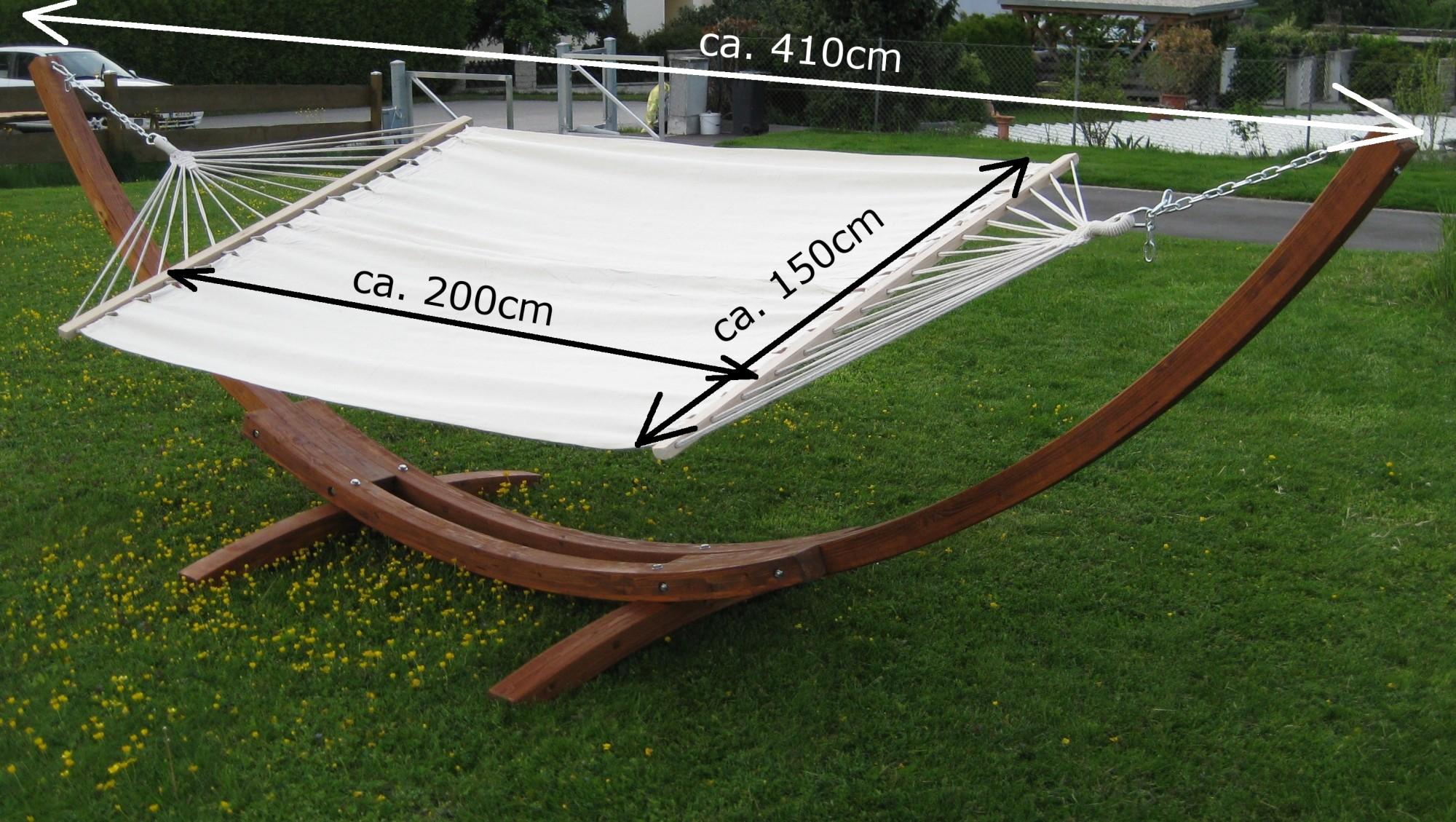 410cm Xxl Hangemattengestell Dominica Aus Holz Larche Mit Stab