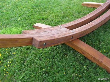 410cm XXL Hängemattengestell DOMINICA aus Holz Lärche mit Stab Hängematte – Bild 7