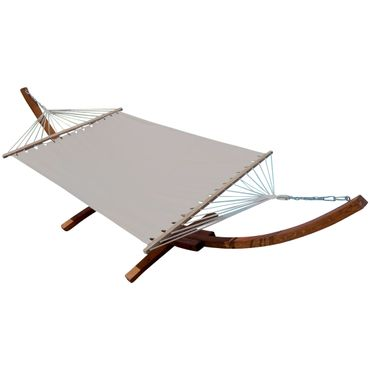410cm XXL Hängemattengestell DOMINICA aus Holz Lärche mit Stab Hängematte