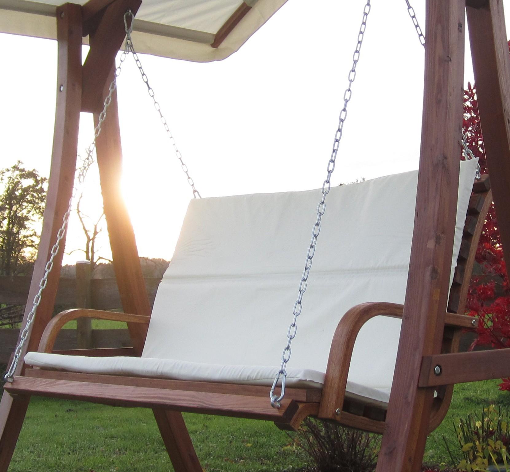 design bank aus holz l rche f r hollywoodschaukel 2 sitzer. Black Bedroom Furniture Sets. Home Design Ideas