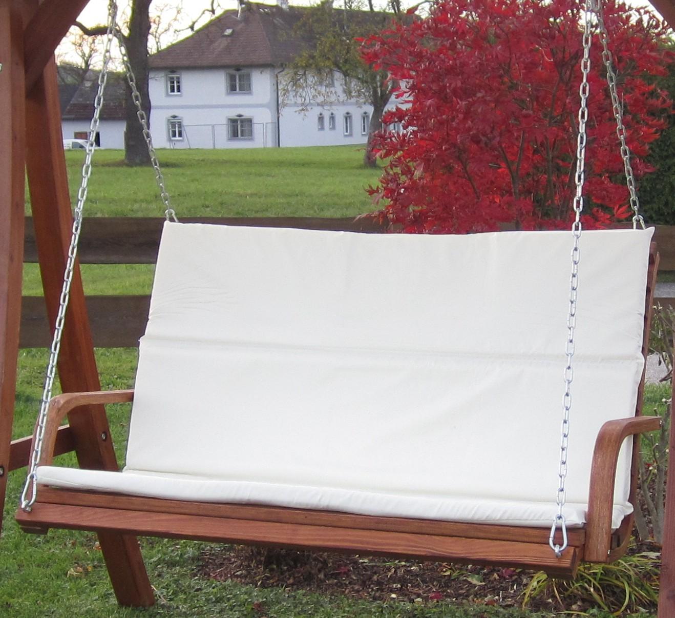 Design Bank aus Holz Lärche für Hollywoodschaukel 2-Sitzer KUREDO ...