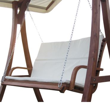 Design Bank aus Holz Lärche für Hollywoodschaukel 2-Sitzer KUREDO (ohne GESTELL!!!)